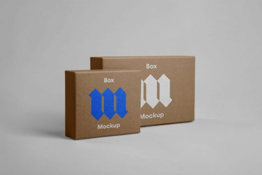 Front Box Packaging Free Mockup