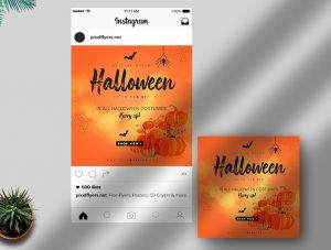 Halloween Event Free Instagram Post Template