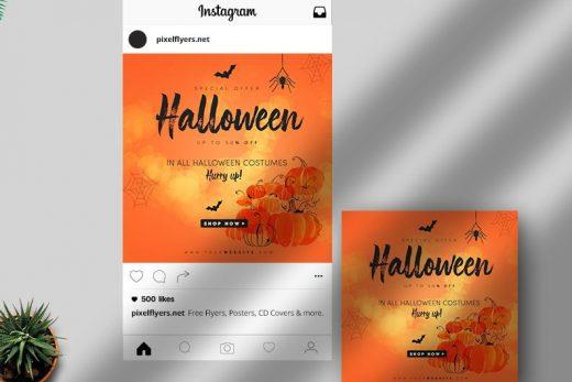 Halloween Event Free Instagram Post Template