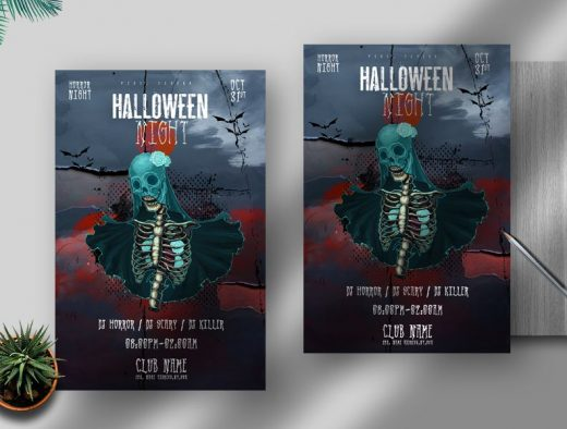 Halloween Nights Free Flyer Template (PSD)