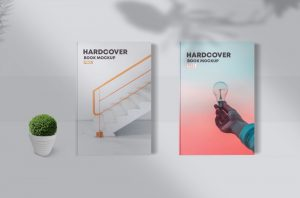 Hardcover Book Free Mockup (PSD)