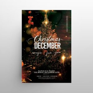 Hello December X-Mas Free Flyer Template (PSD)