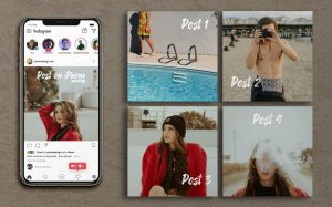 Instagram Posts with iPhone Free Mockup