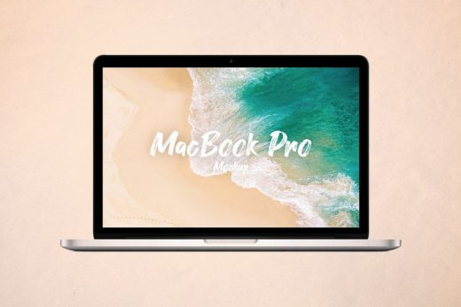 Minimal Macbook Pro Free Mockup