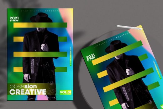 Minimalist Colour Party Free Flyer Template (PSD)
