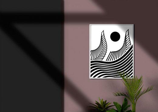 Minimalistic Poster Frame Free Mockup