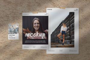 Moodboard Flyers Kit Free Mockup