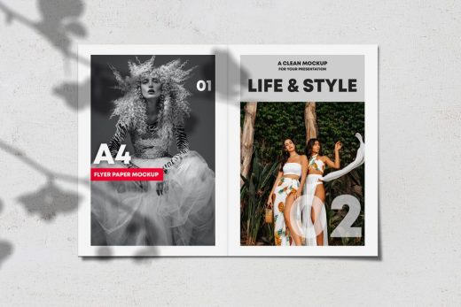 Opened Brochure / Magazine Free Mockup