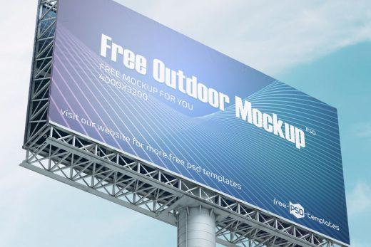 Outdoor Billboard Free Mockup