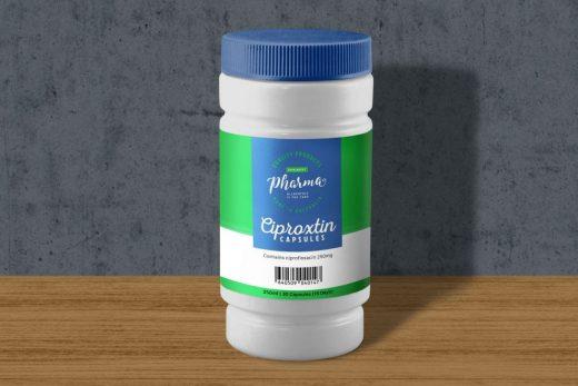 Plastic Medicine Bottle Free Mockup