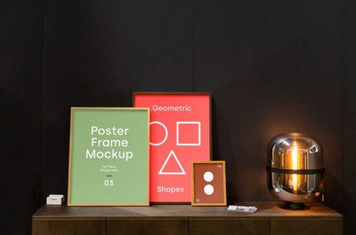 Poster Frames Free Mockup