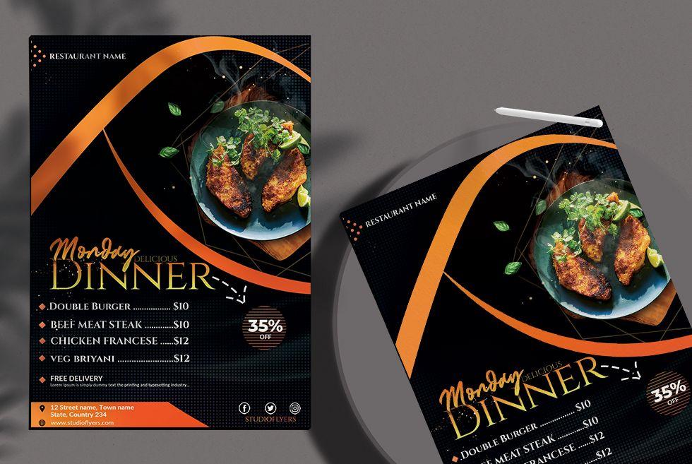 Restaurant Dinner Menu Free PSD Template
