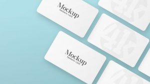 Rounded Business Card Free Mockup