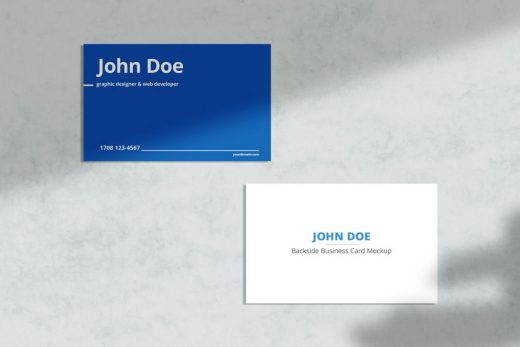 Simple Business Card Free Mockup
