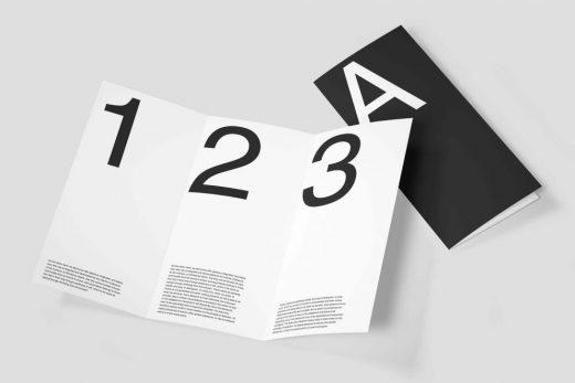 Simple Trifold Brochure Free Mockup
