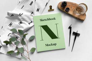 Sketchbook Free Mockup (PSD)