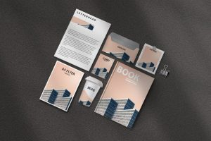 Stationery Scene Kit Free Mockup (PSD)