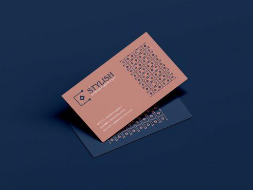Stylish Business Cards Free Mockup