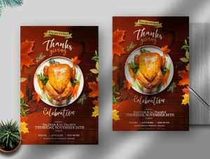 Thanks Giving Event Free PSD Flyer Template