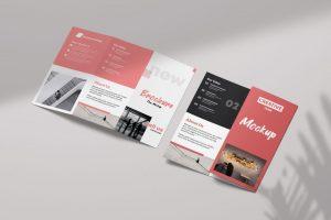 Tri-Fold Brochure Free Mockup (PSD)