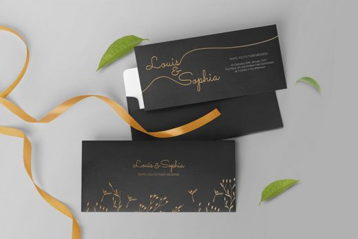 Wedding Invitation Free Mockup (PSD)