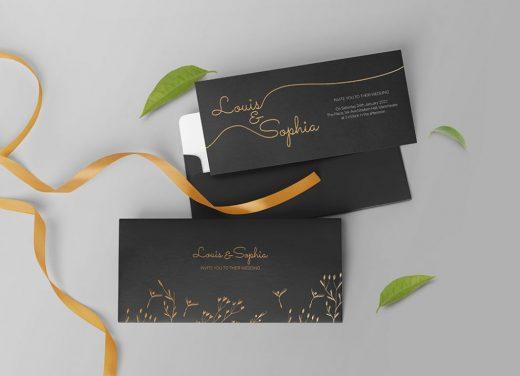 Wedding Invitation Free Mockup (PSD)