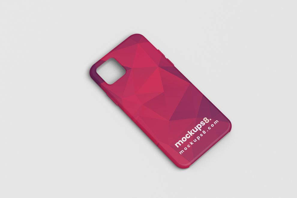 iPhone 12 Case Free Mockup (PSD)
