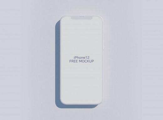 iPhone 12 Clay Free Mockup
