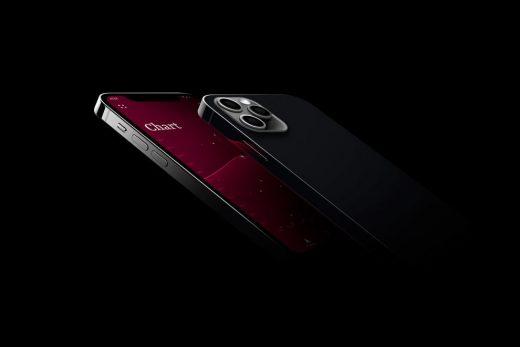 iPhone 12 Pro in Dark Scene Free Mockup