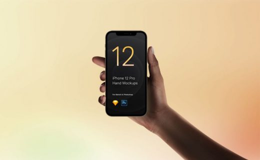 iPhone 12 Pro in Hand Free Mockup