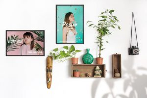 2 Poster Frames Scene Free Mockup
