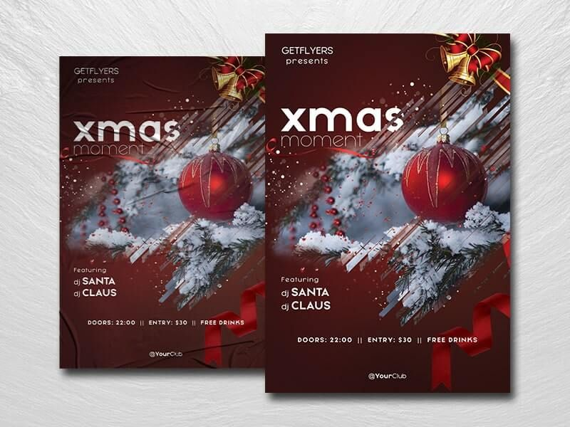 2021 Christmas Moments Free Flyer Template (PSD)