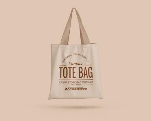 3 Canvas Tote Bag Free Mockup