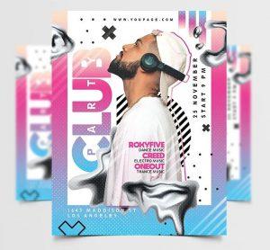 Artist DJ Party Free Flyer Template (PSD)