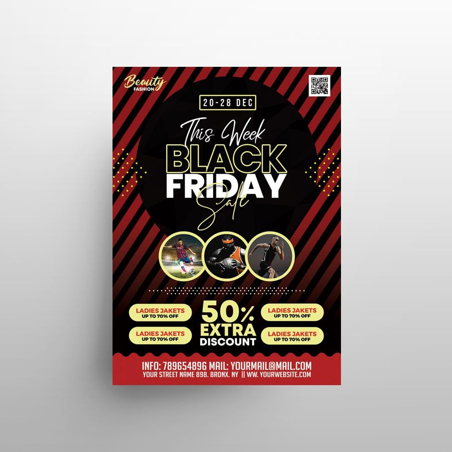 Black Friday Promotional Free Flyer Template (PSD)