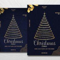 Christmas Golden Event Free Flyer Template (PSD)