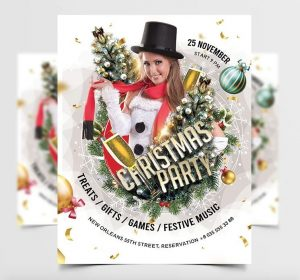 Christmas Party Vibe Free Flyer Template (PSD)