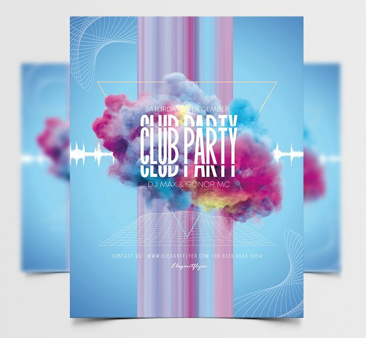 Club Party Vibes Free Flyer Template (PSD)