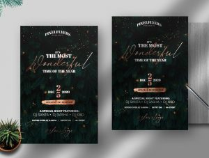 Elegant Christmas Celebration Free Flyer Template (PSD)