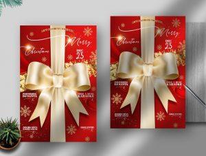 Elegant Christmas Free Flyer Template (PSD)