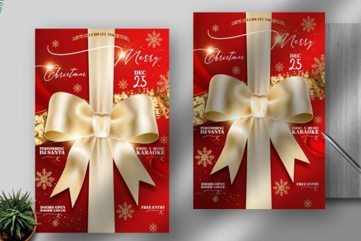 Elegant Christmas Free Flyer Template (PSD)