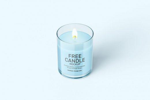 Free 6 Candle Mockup Set