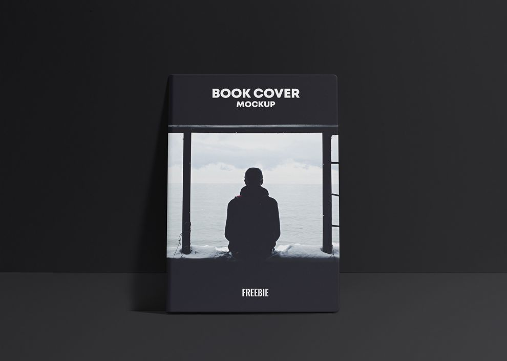 Free Book Cover Scene Mockup