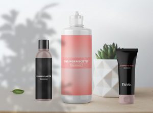 Free Cosmetic Bottles Packaging Mockup