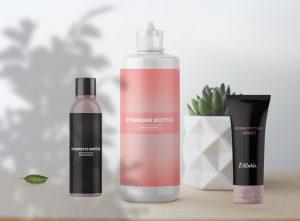 Free Cosmetic Bottles Packaging Mockup