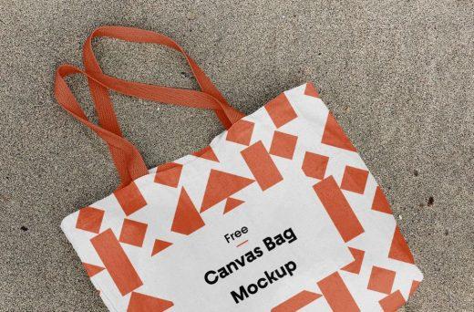 Free Cotton Canvas Bag Mockup