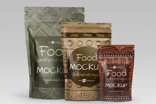Free Food and Beverage Packaging Mockup