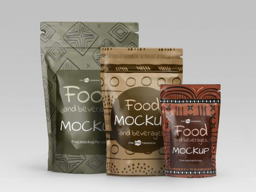 Free Food and Beverage Packaging Mockup