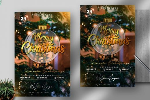 Free Merry Christmas 2020 PSD Flyer Template