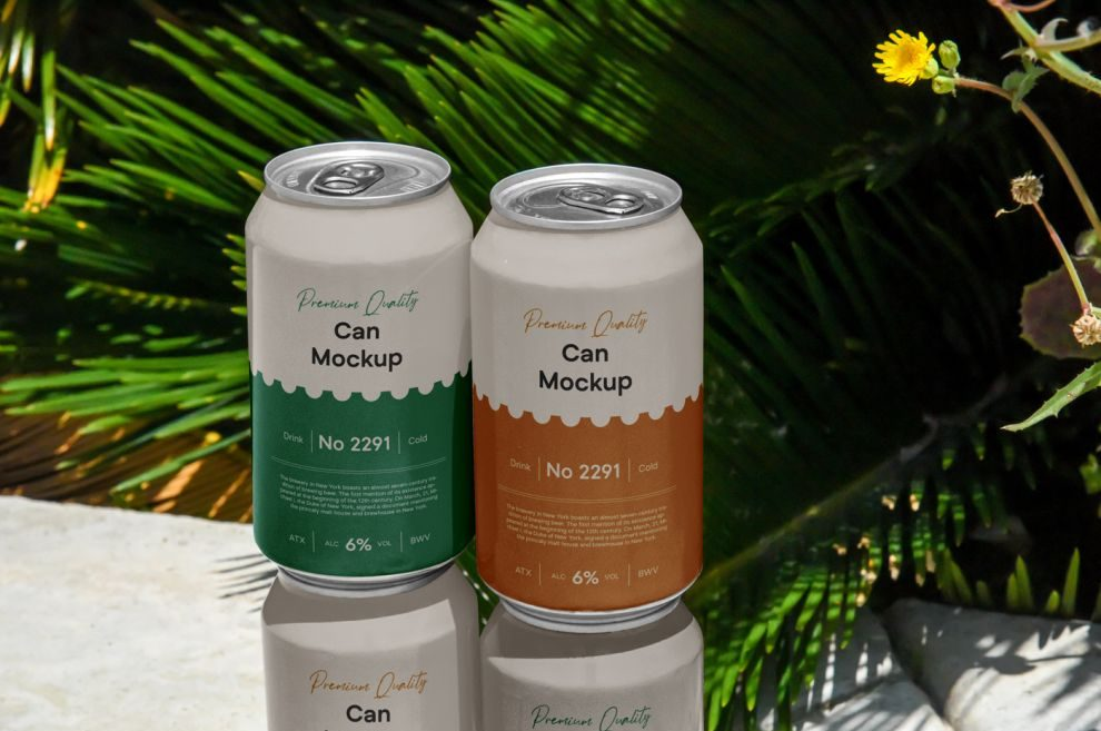Free Outdoor Can Mockup